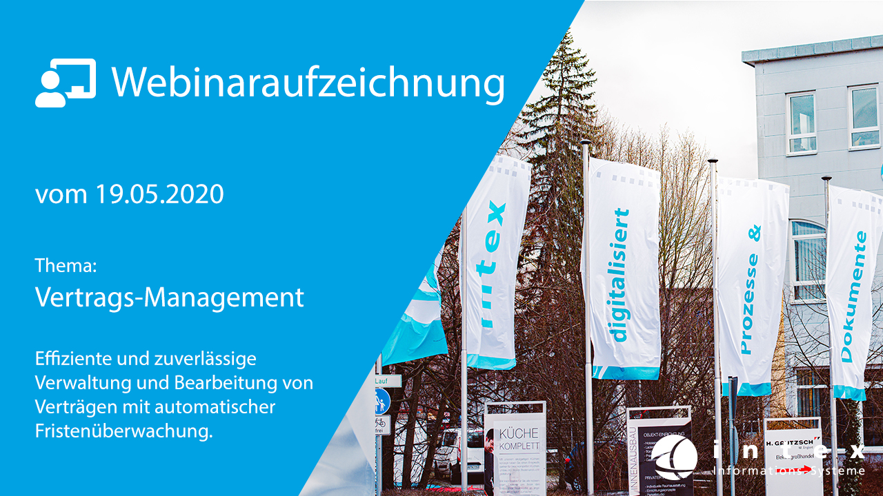 Webinar - Digitales Vertragsmanagement