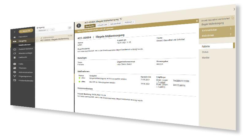 Hinweisgebersystem Fallbearbeitung